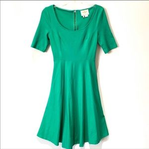 Kate Spade Jada Fit and Flare Dress Green 4